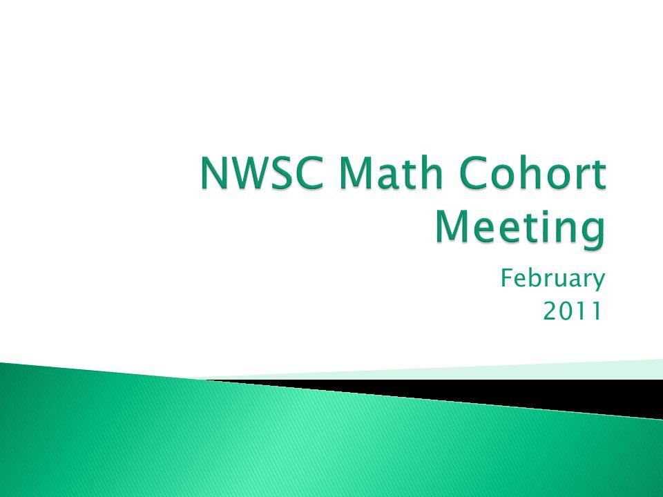 NWSC Math Cohort Meeting