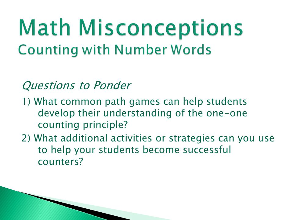 Math Misconceptions Counting with Number Words