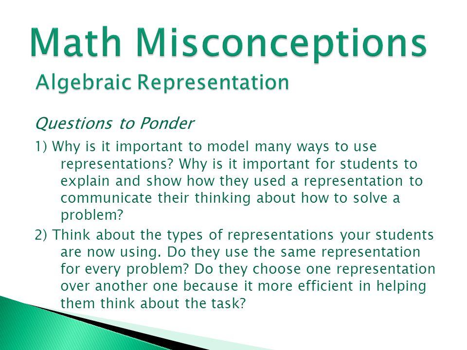 Math Misconceptions Algebraic Representation