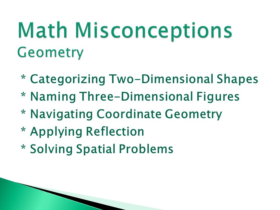 Math Misconceptions Geometry