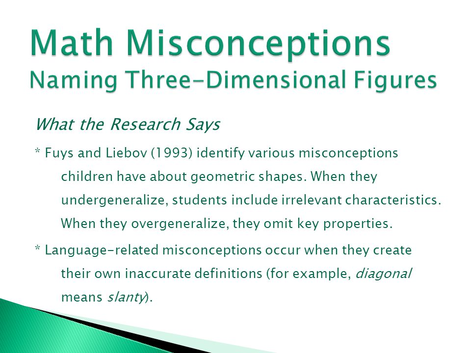 Math Misconceptions Naming Three-Dimensional Figures