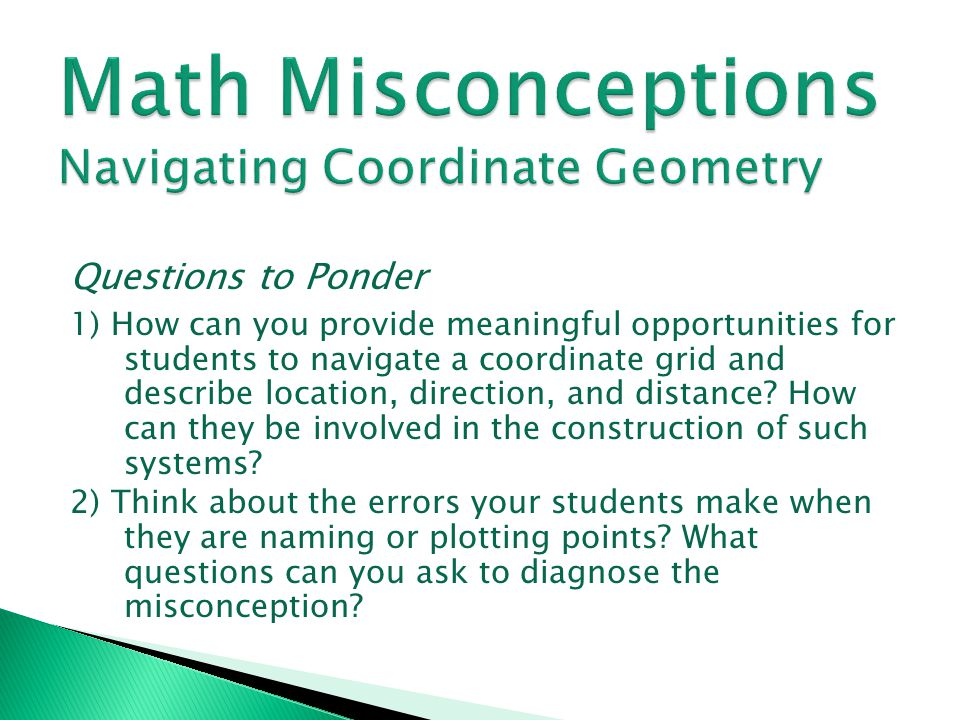 Math Misconceptions Navigating Coordinate Geometry