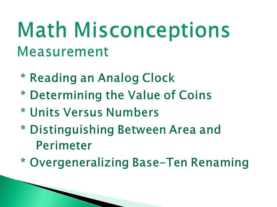 Math Misconceptions Measurement