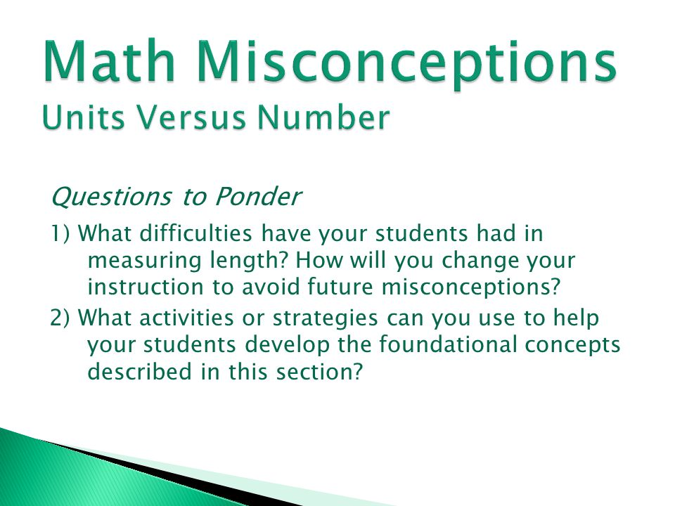 Math Misconceptions Units Versus Number