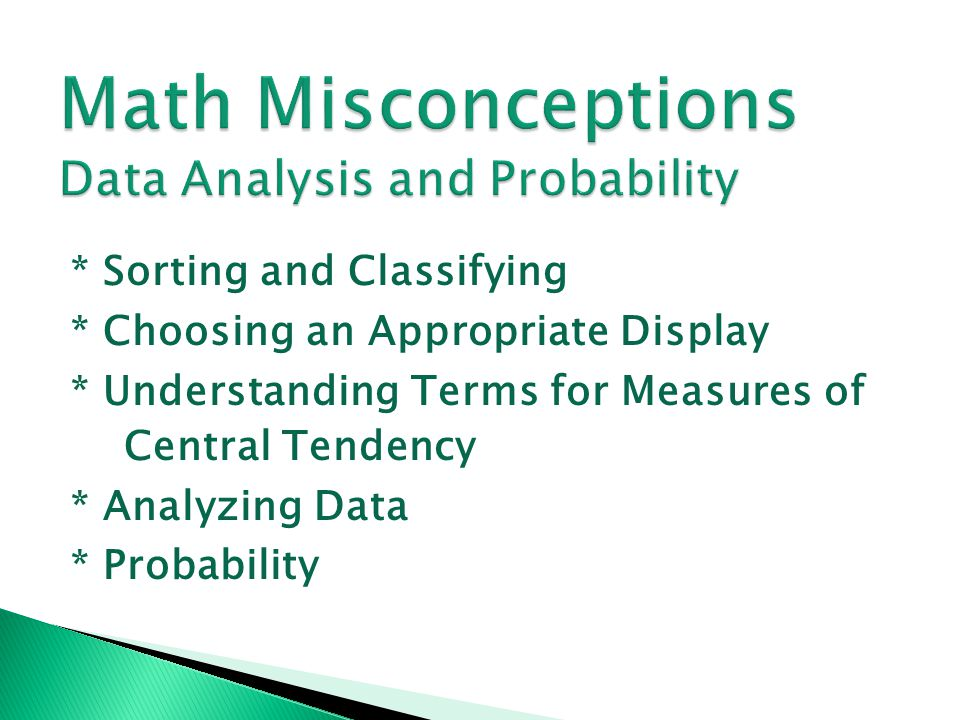 Math Misconceptions Data Analysis and Probability