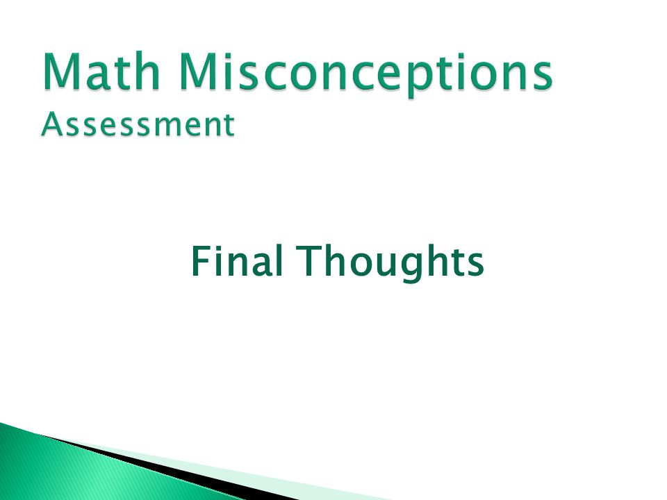 Math Misconceptions Assessment