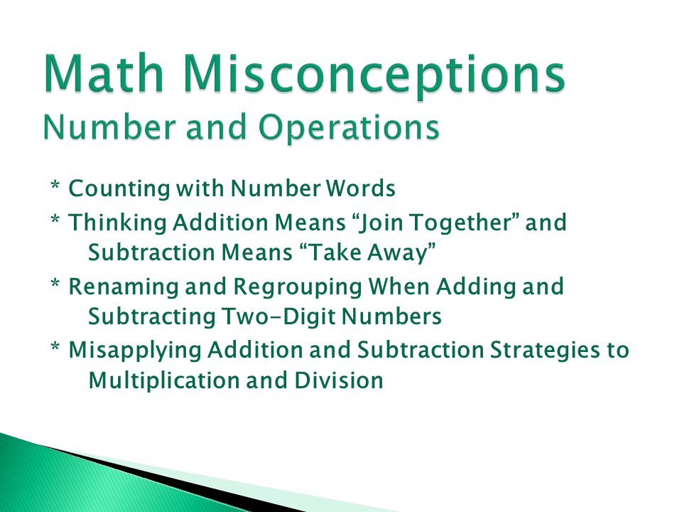 Math Misconceptions Number and Operations