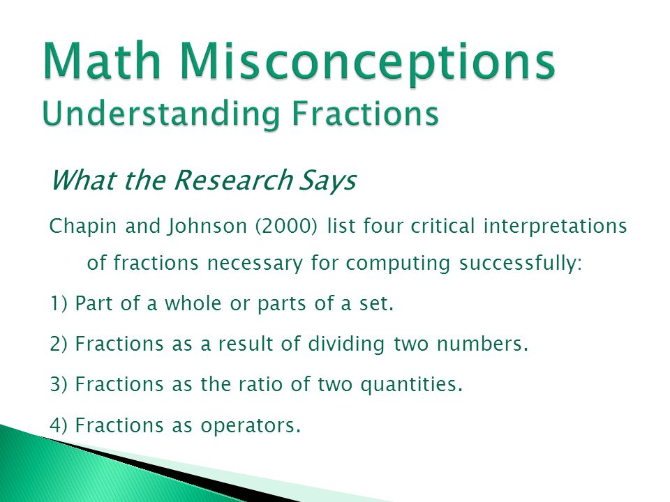 Math Misconceptions Understanding Fractions