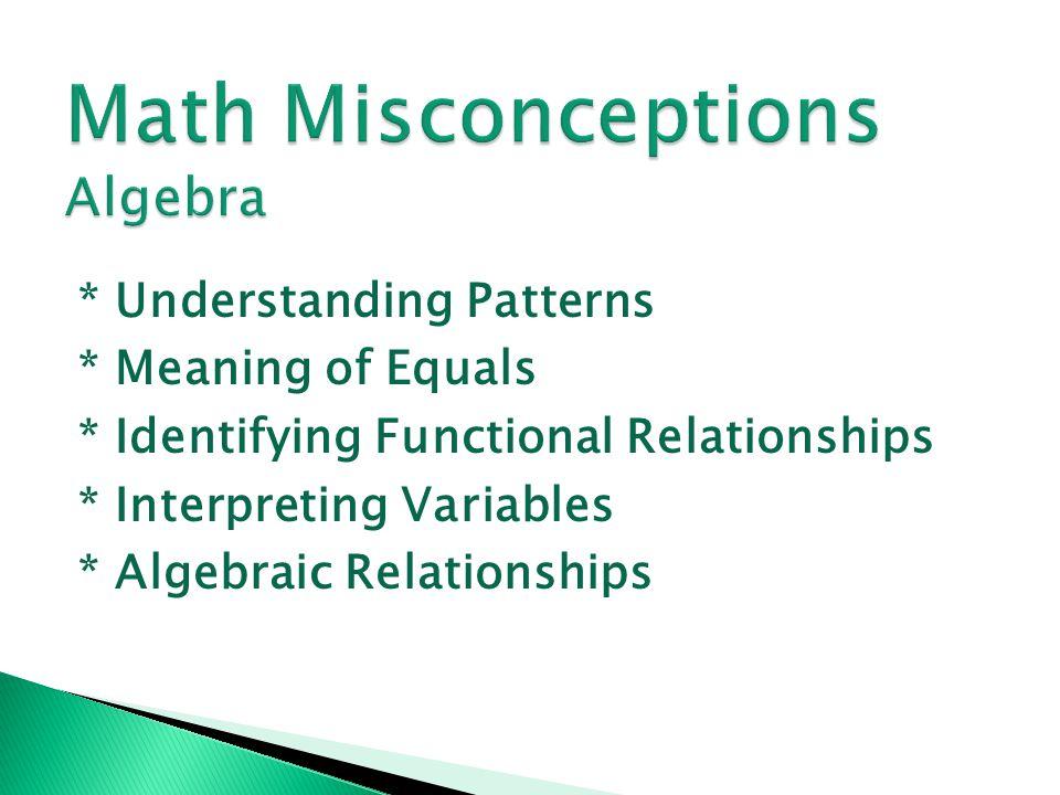 Math Misconceptions Algebra