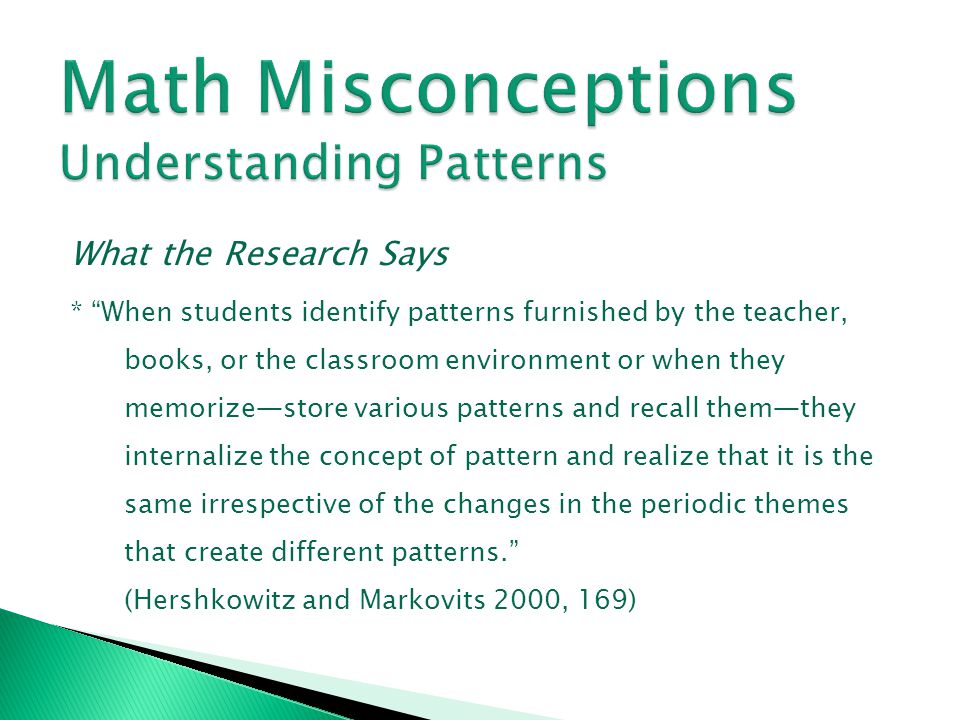 Math Misconceptions Understanding Patterns