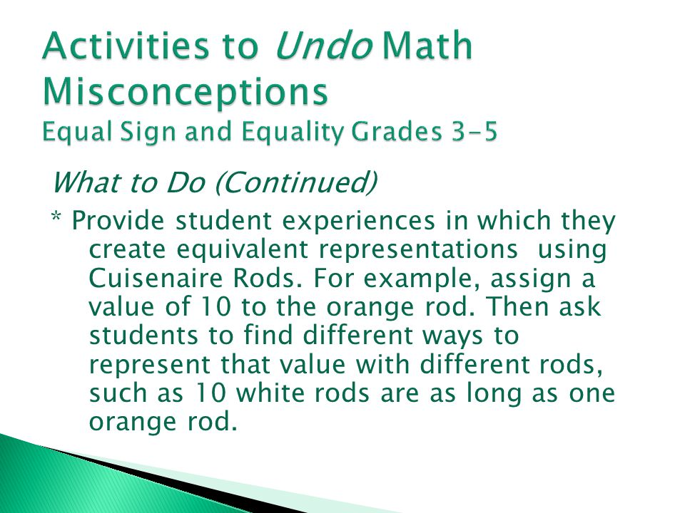 Activities to Undo Math Misconceptions Equal Sign and Equality Grades 3-5