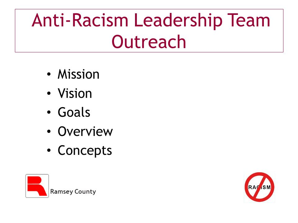 Anti-Racism Leadership Team Outreach