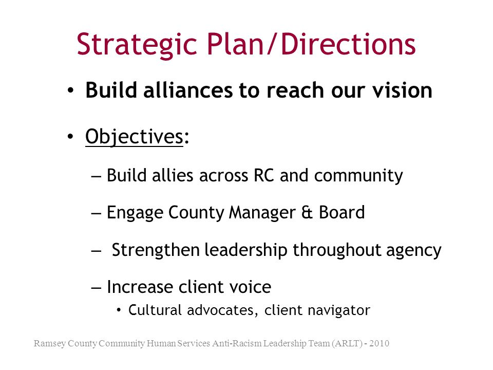 Strategic Plan/Directions
