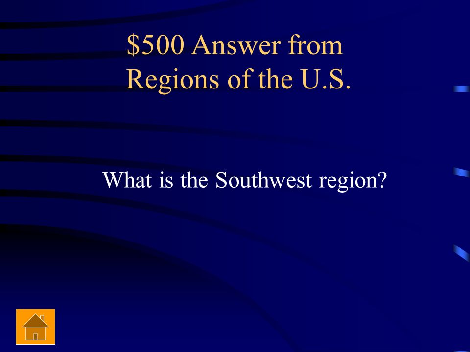 $500 Answer from Regions of the U.S.