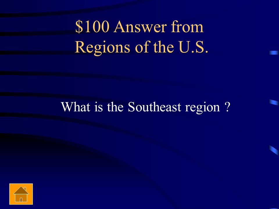 $100 Answer from Regions of the U.S.