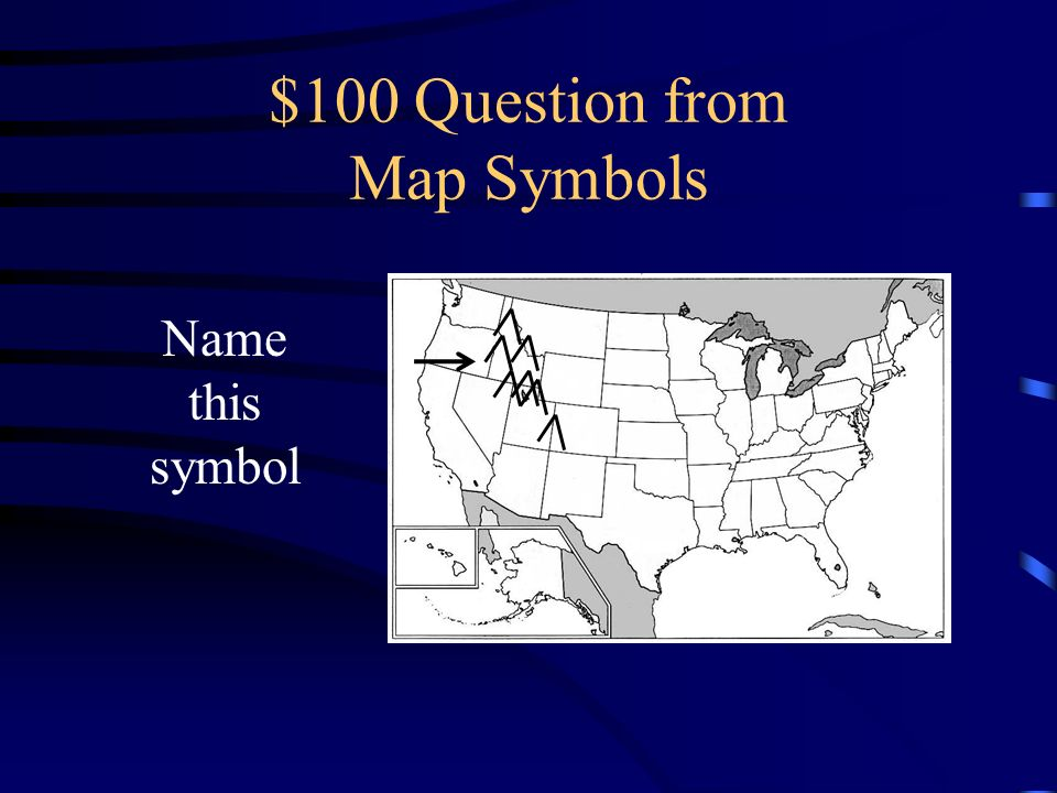 $100 Question from Map Symbols