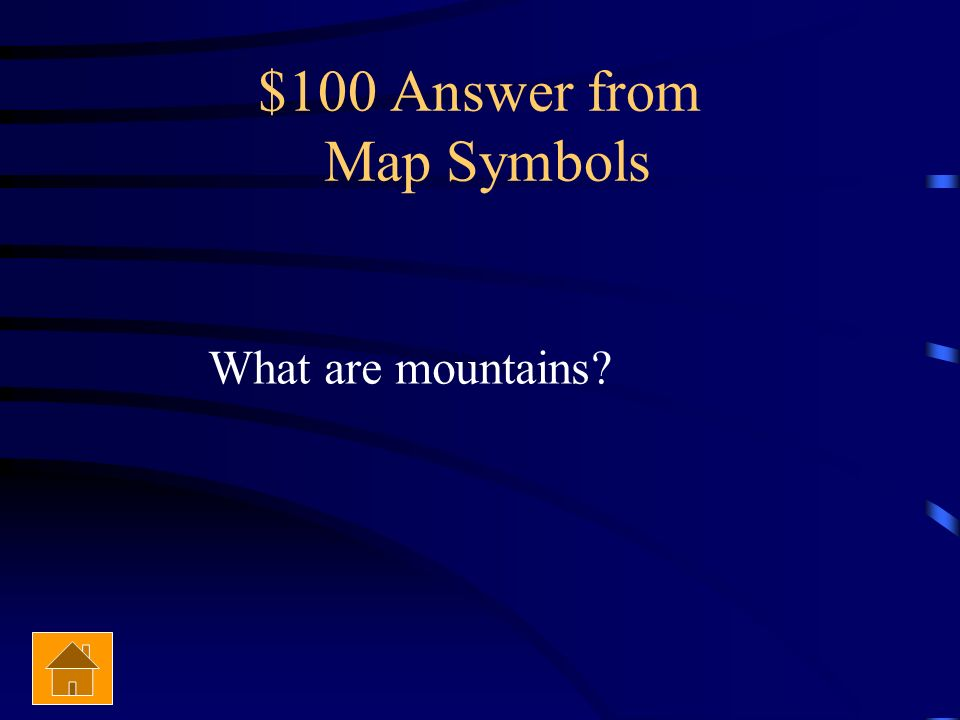 $100 Answer from Map Symbols
