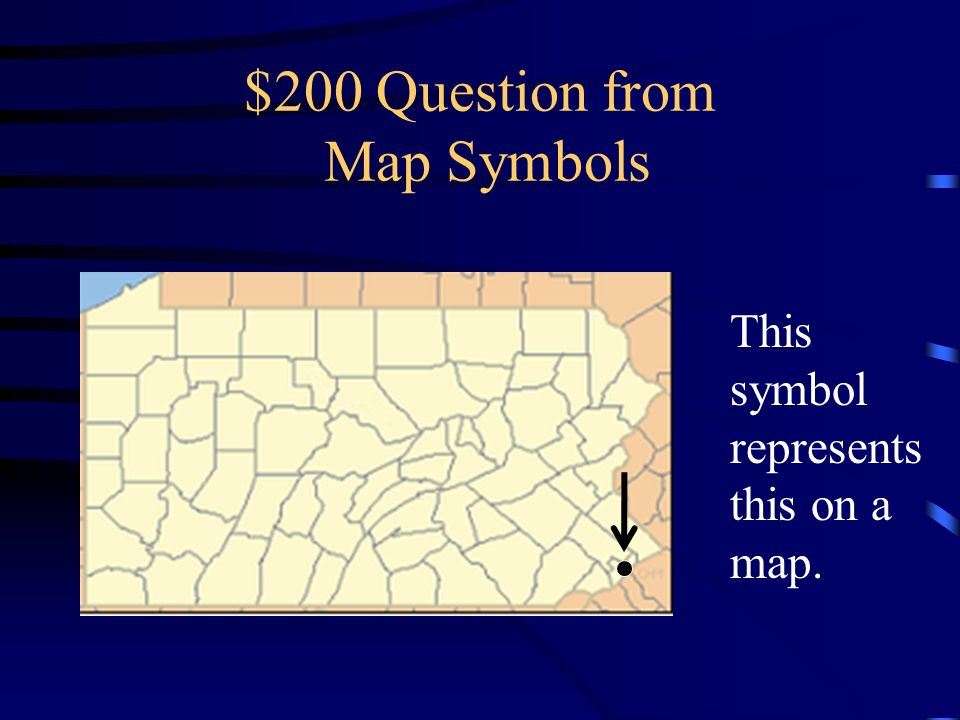 $200 Question from Map Symbols