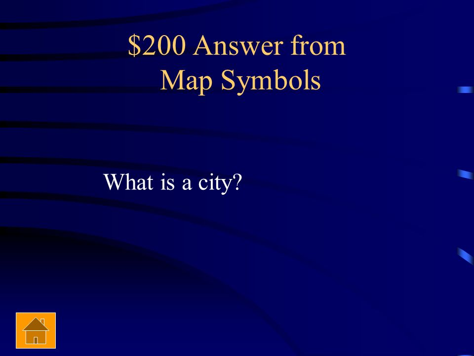 $200 Answer from Map Symbols