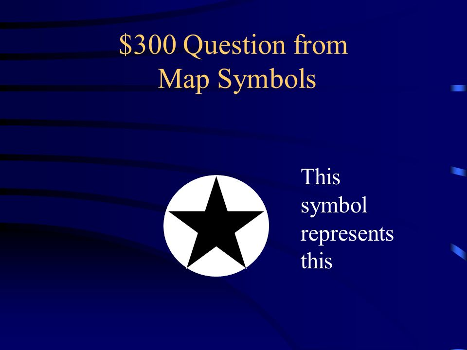 $300 Question from Map Symbols