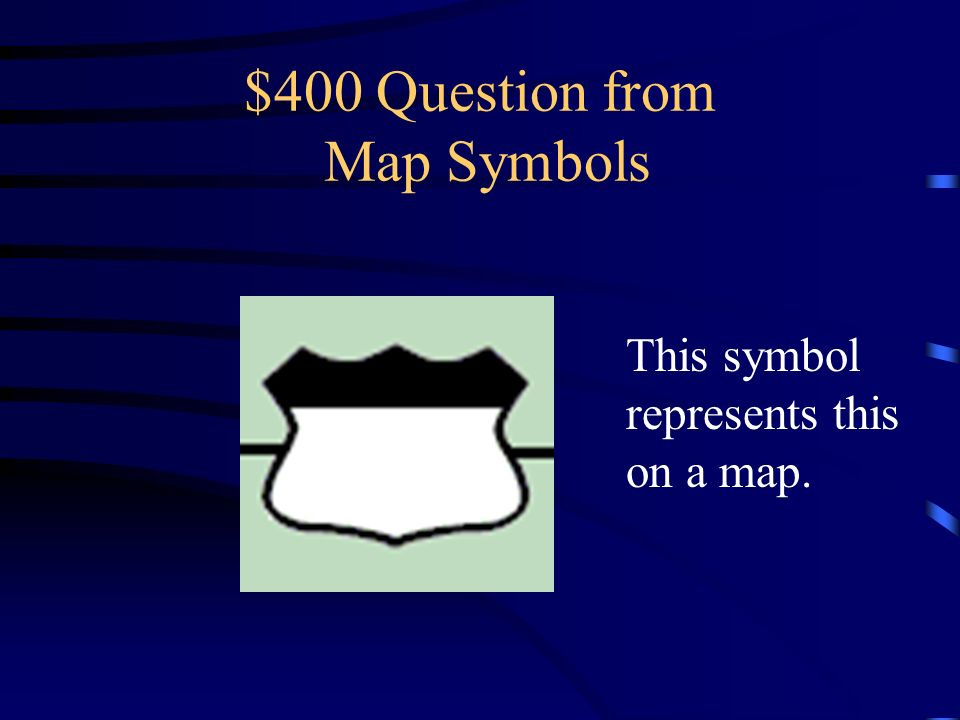 $400 Question from Map Symbols