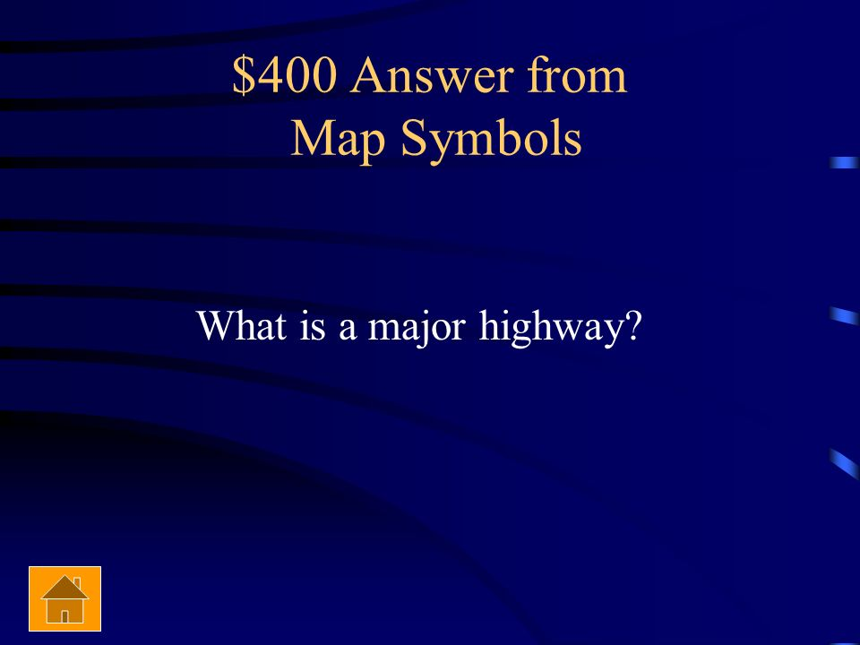 $400 Answer from Map Symbols