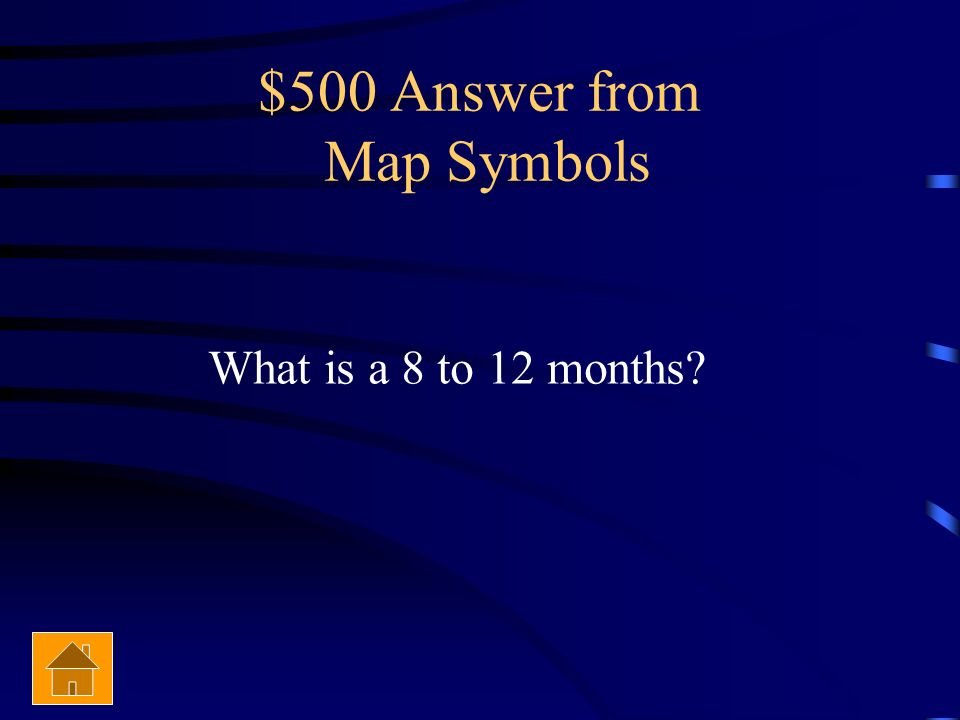 $500 Answer from Map Symbols