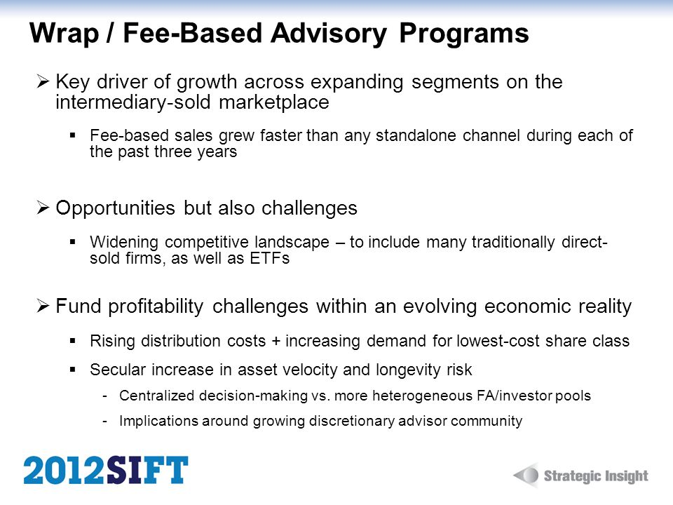 Wrap / Fee-Based Advisory Programs