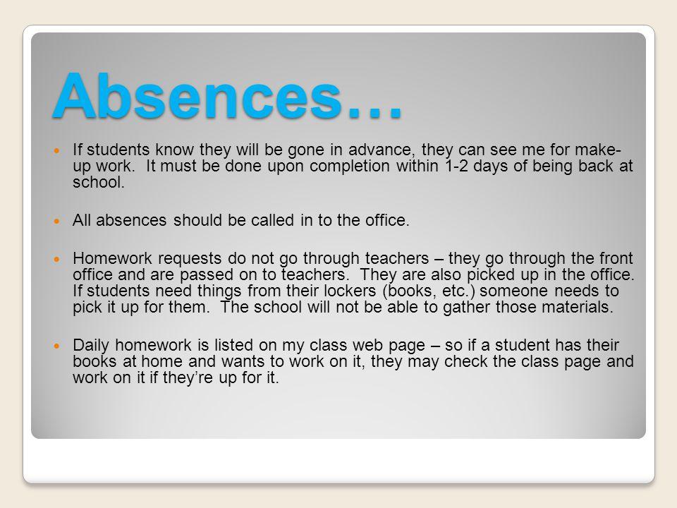 Absences…