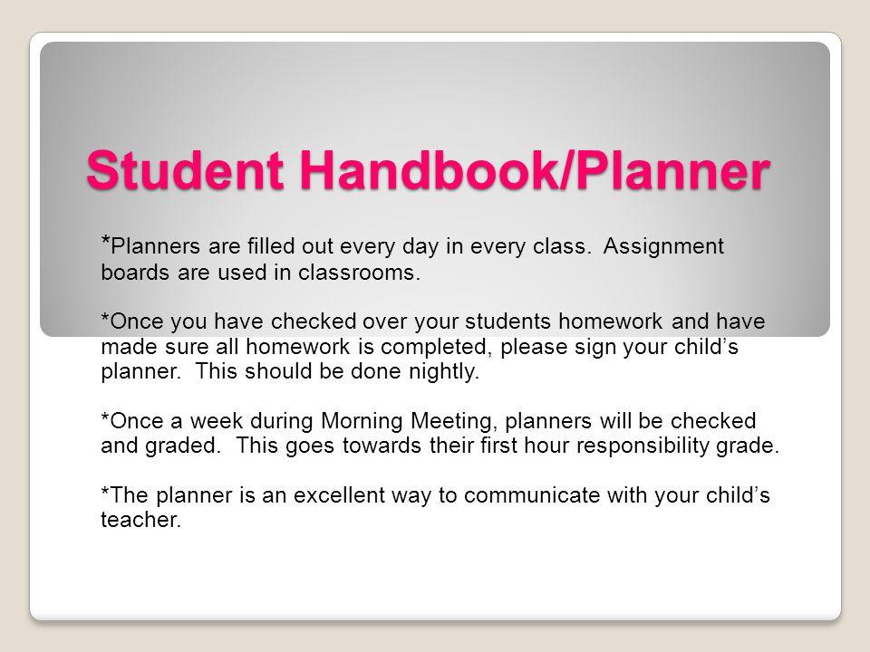 Student Handbook/Planner