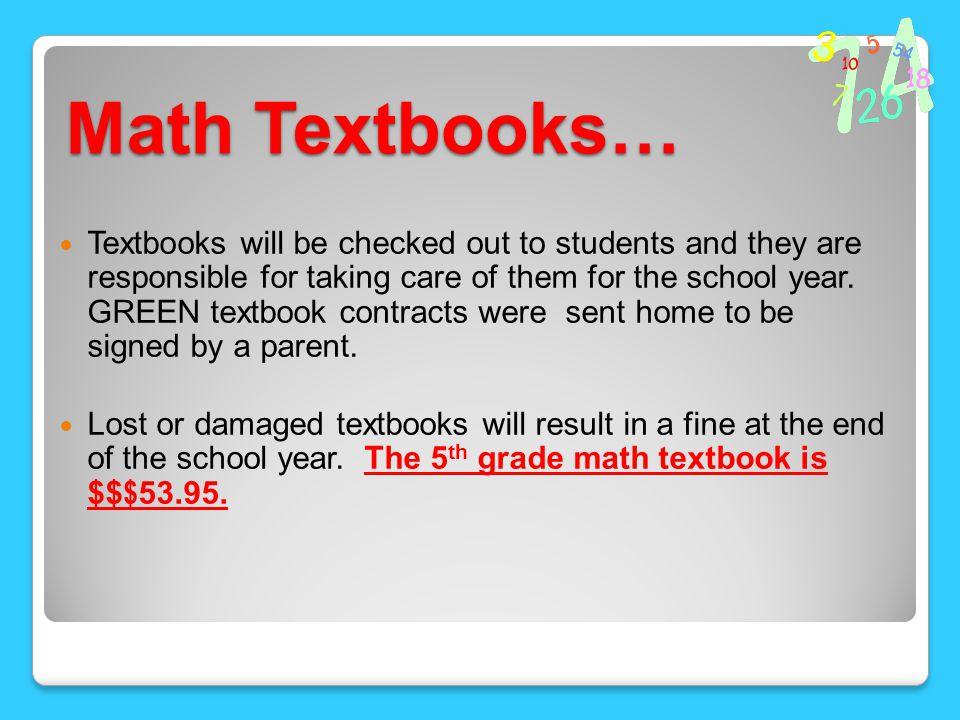 Math Textbooks…