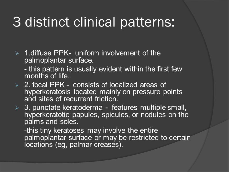 3 distinct clinical patterns: