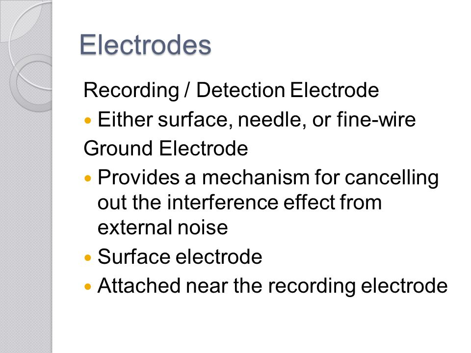 Electrodes Recording / Detection Electrode