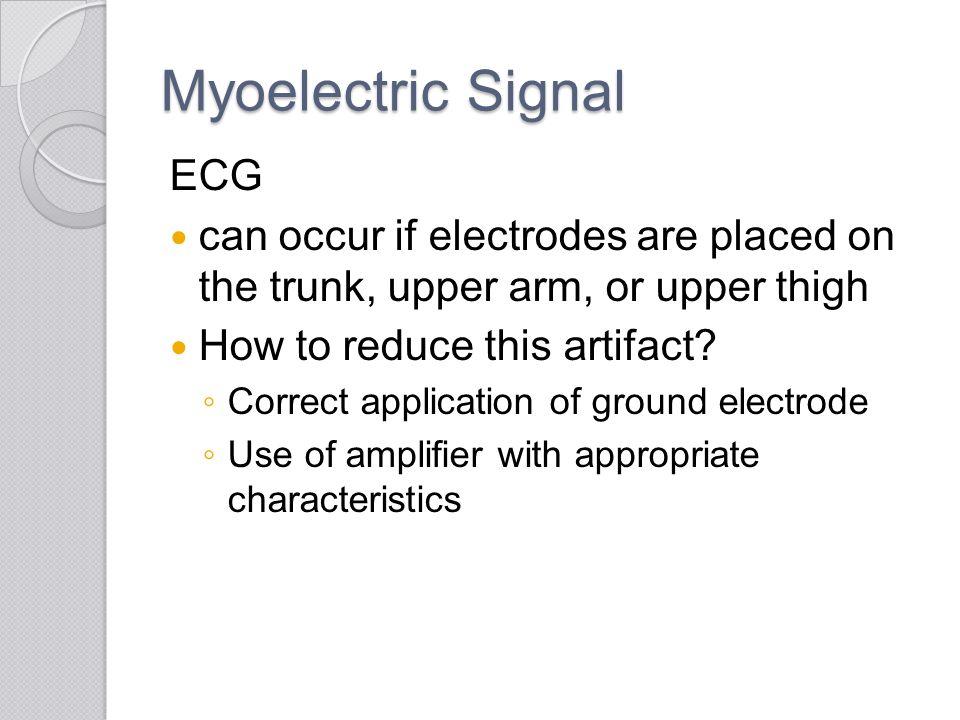 Myoelectric Signal ECG