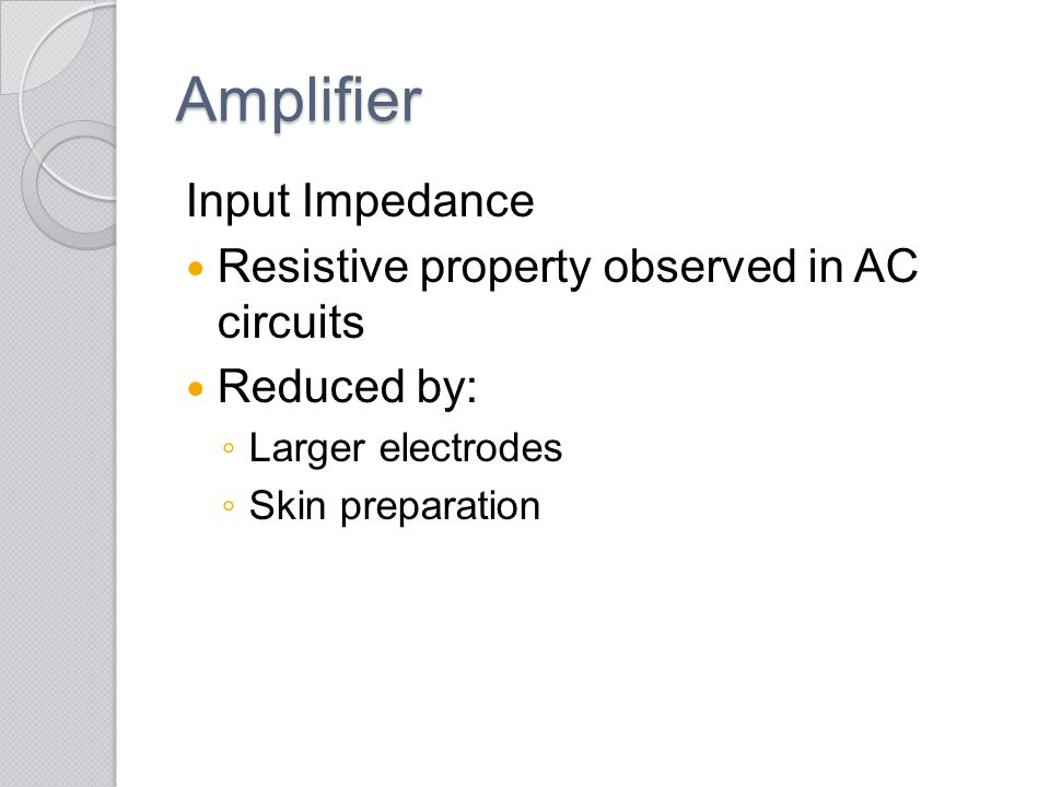 Amplifier Input Impedance Resistive property observed in AC circuits