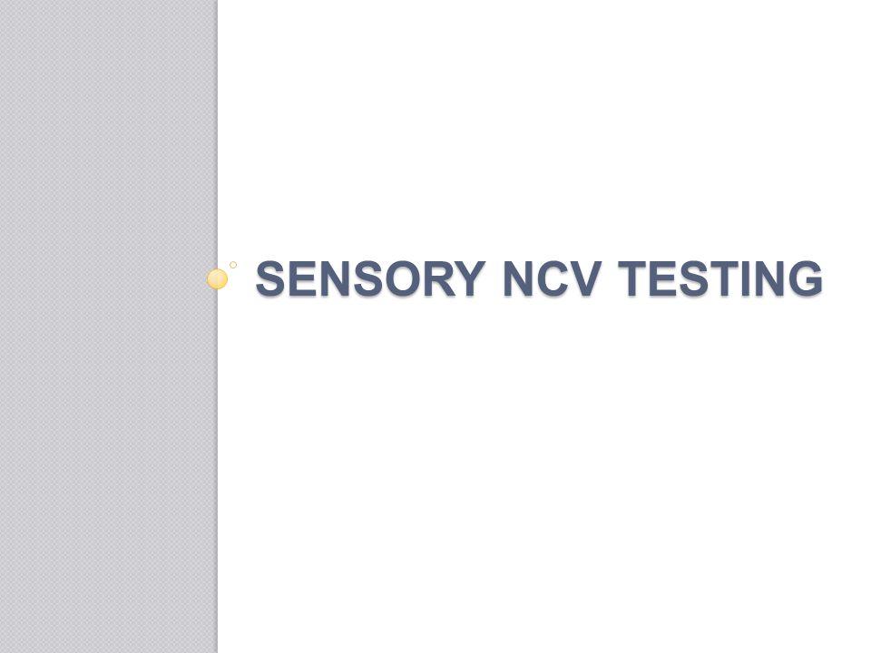 Sensory ncv testing