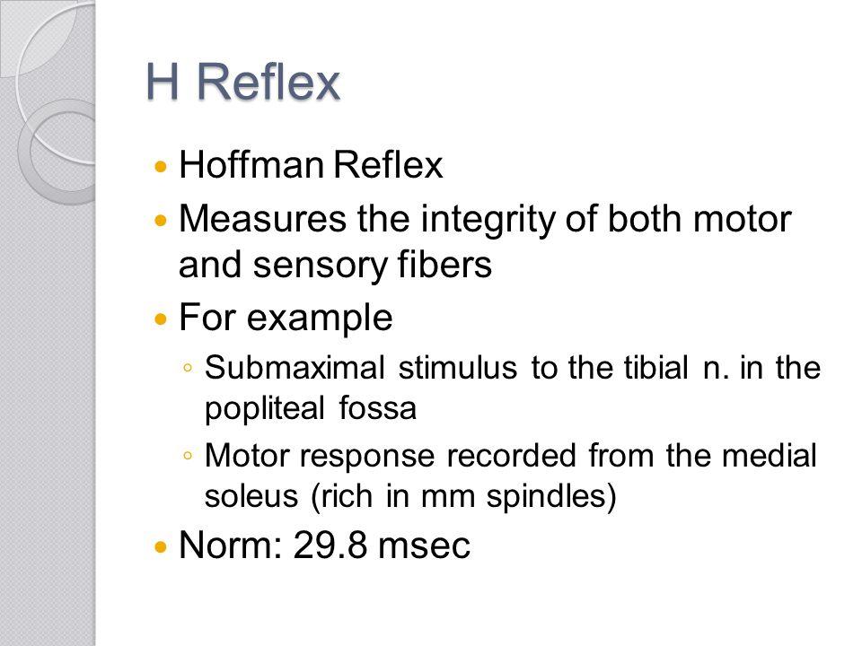 H Reflex Hoffman Reflex