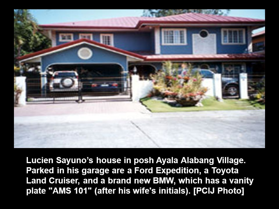 Lucien Sayuno's house in posh Ayala Alabang Village