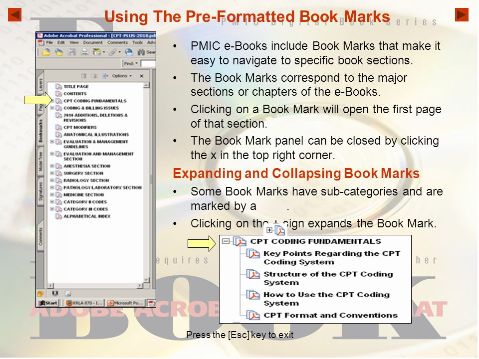 Using The Pre-Formatted Book Marks