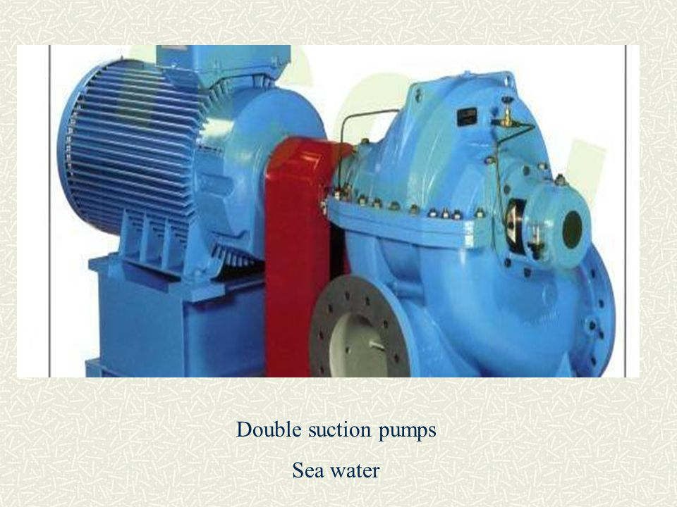 Double suction pumps Sea water