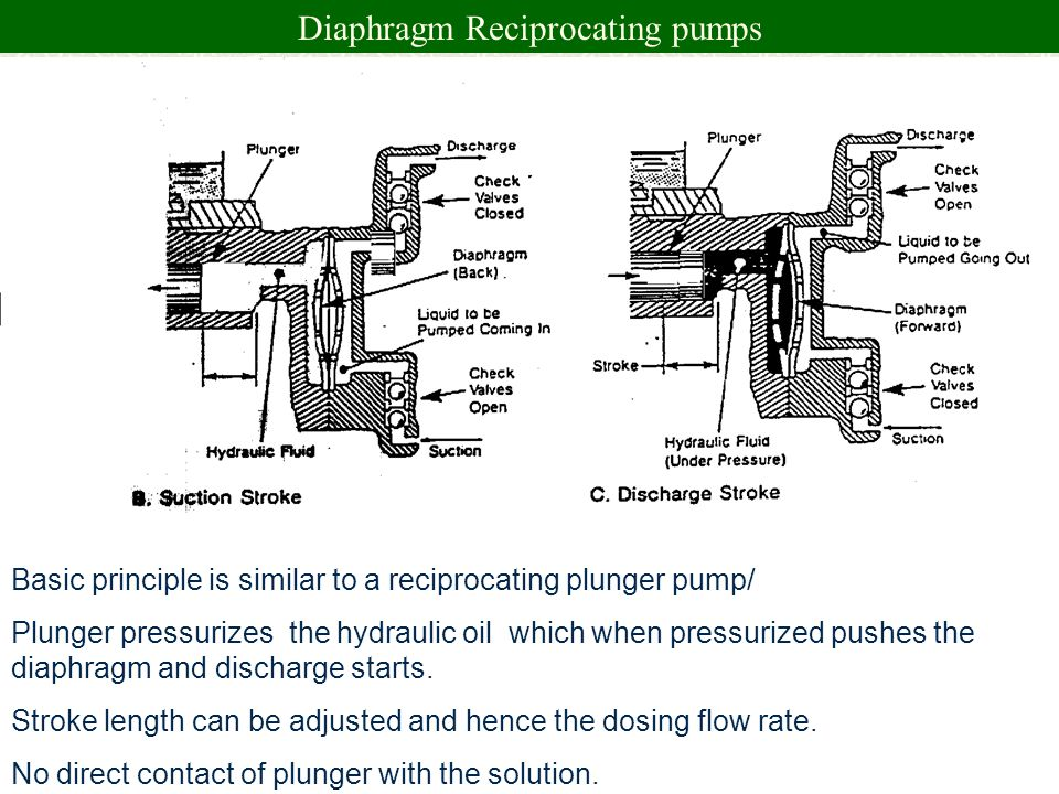Diaphragm Reciprocating pumps