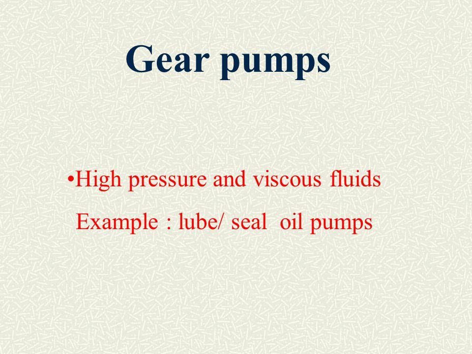 Gear pumps High pressure and viscous fluids
