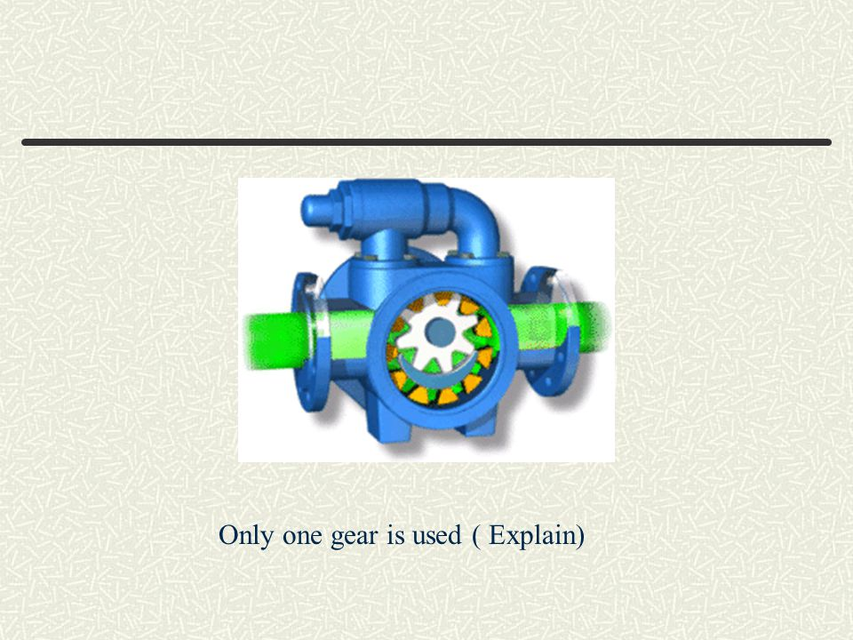 Only one gear is used ( Explain)