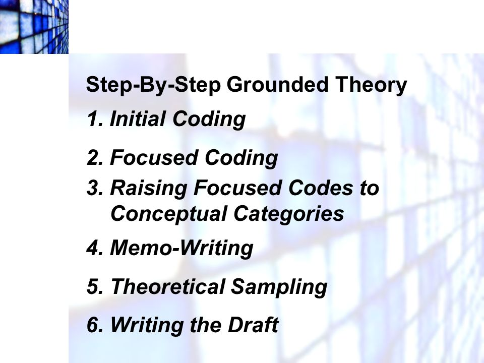 Step-By-Step Grounded Theory