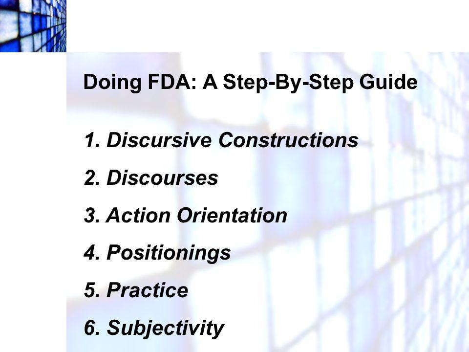 Doing FDA: A Step-By-Step Guide