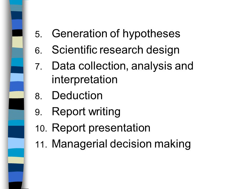 Generation of hypotheses