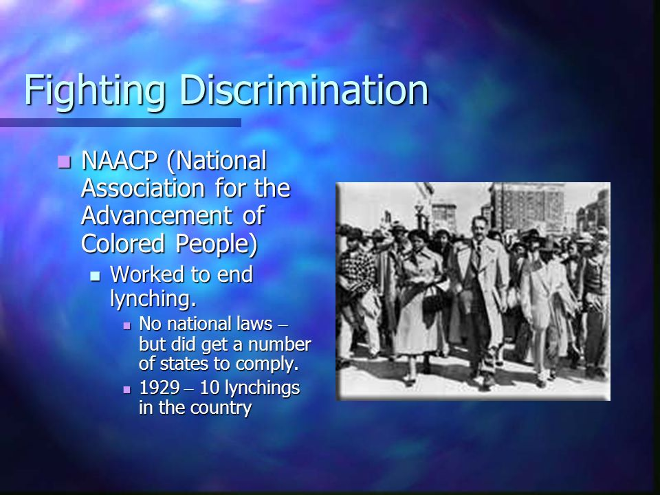 Fighting Discrimination