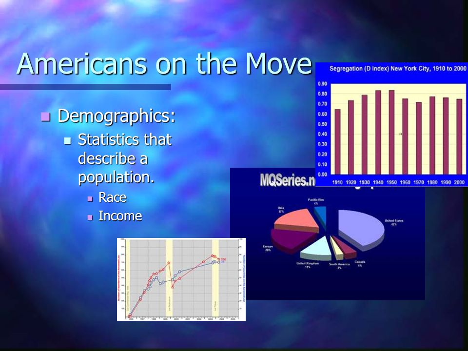 Americans on the Move Demographics: