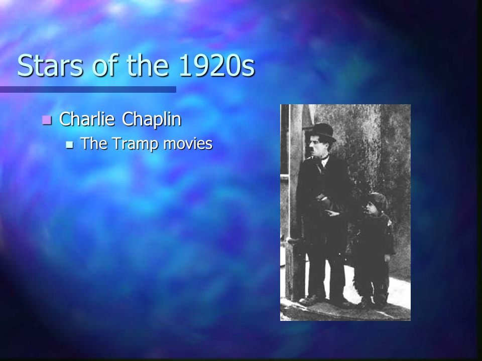 Stars of the 1920s Charlie Chaplin The Tramp movies