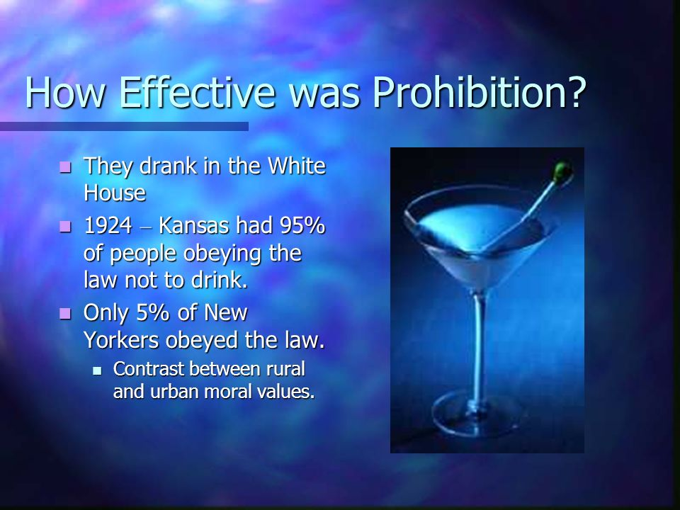How Effective was Prohibition